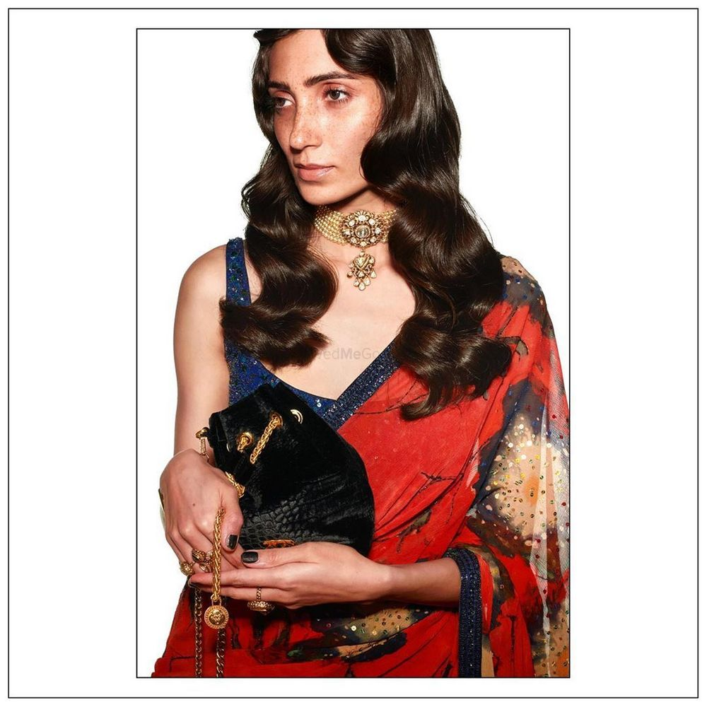 Photo of An Elegant Portrait Of The Bloody Mary Cocktail Saree.