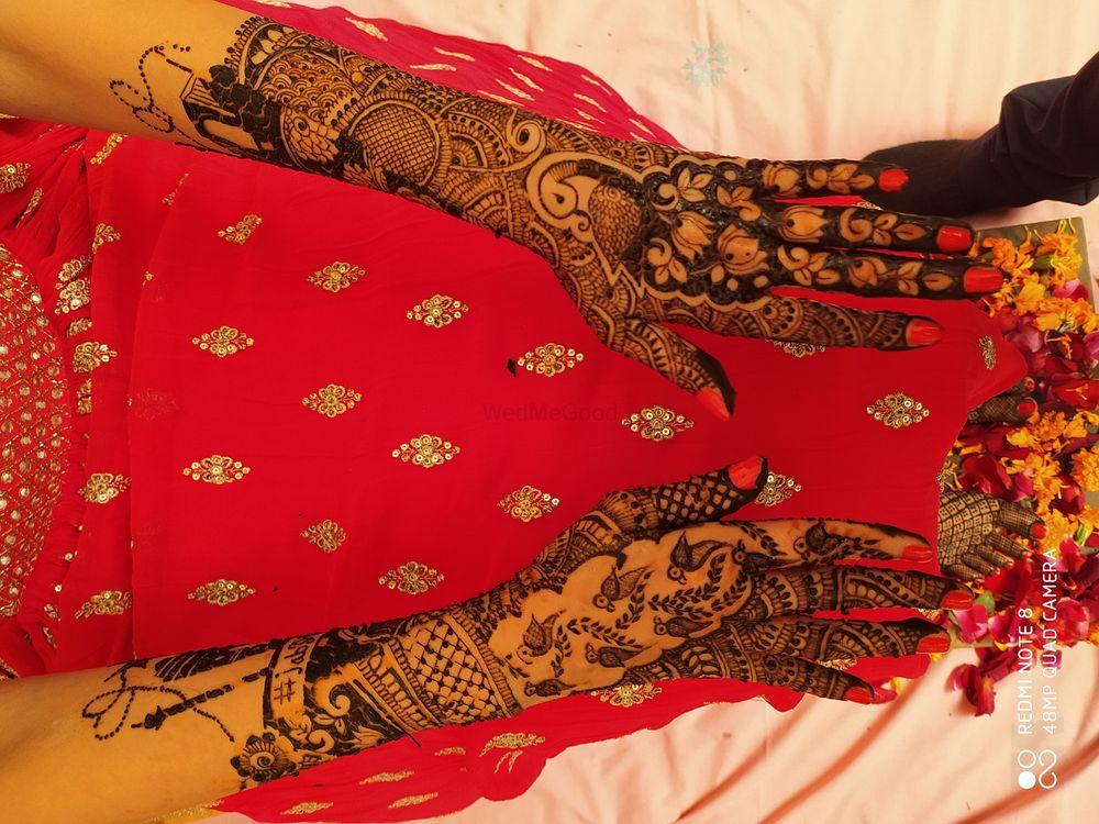 Photo From anushree mehandi ceremony - By Jully Mehandi Designer