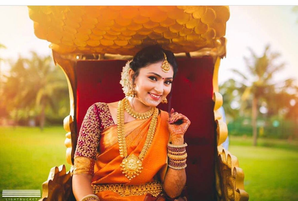 Photo of South Indian bridal portrait