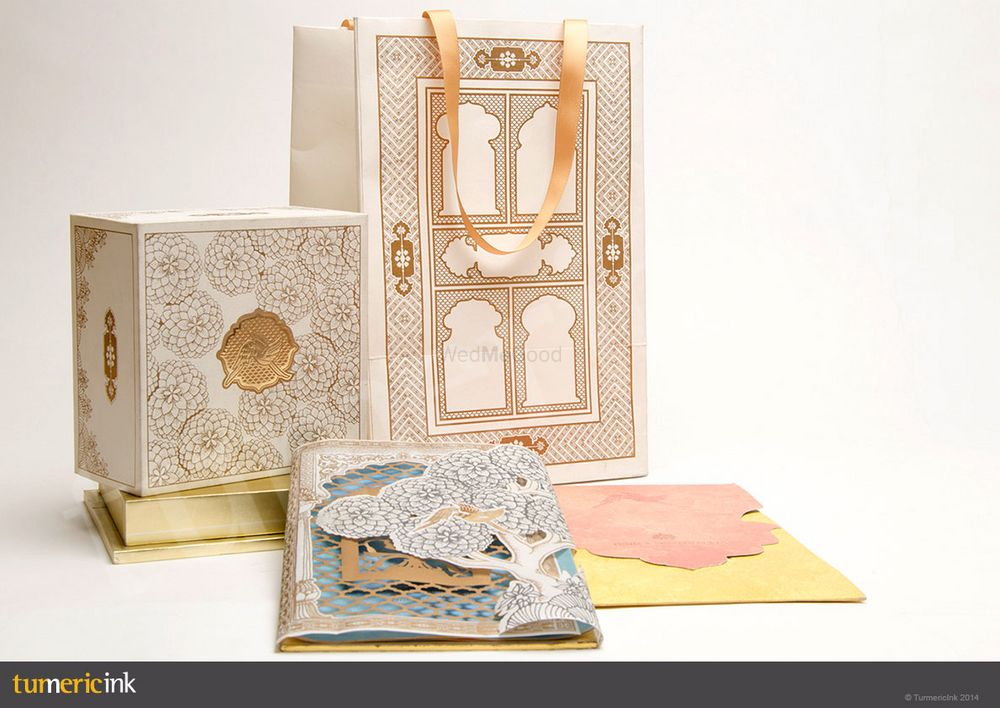 Photo From Rajasthani Architecture Inspired Invite - By Turmeric Ink Invitations and Stationery