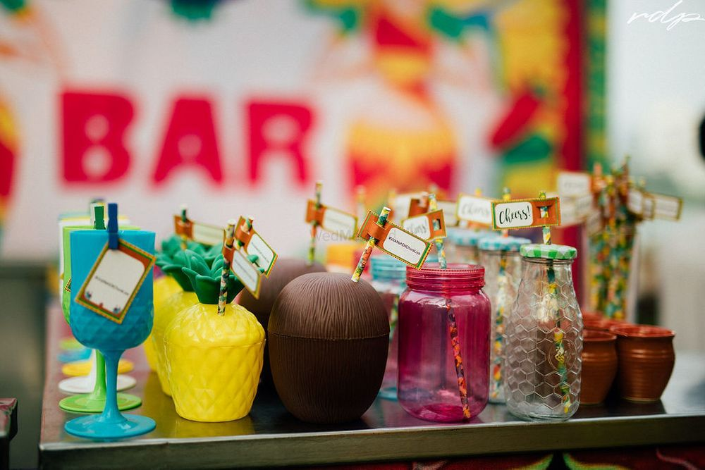 Photo of Quirky ideas for serving drinks at weddings.