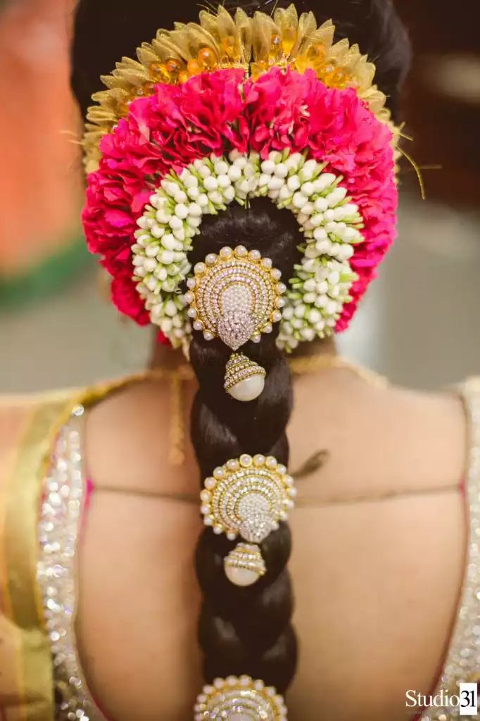 Photo of South Indian Wedding Braid Hairstyle