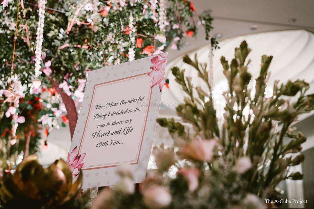 Photo of Wedding signage decor idea