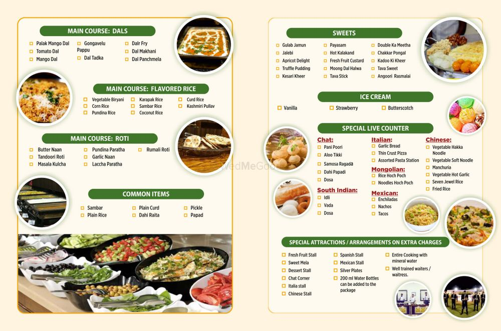 Photo From Manna caterers  Menu - By Manna Caterers