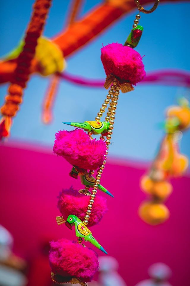 Photo of Tiny Birds Perched on Flowers Suspended Decor