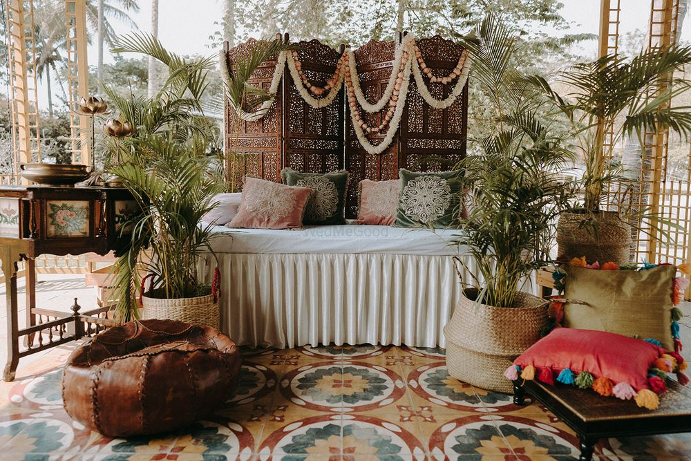 Photo of simple decor idea at home for the mehendi