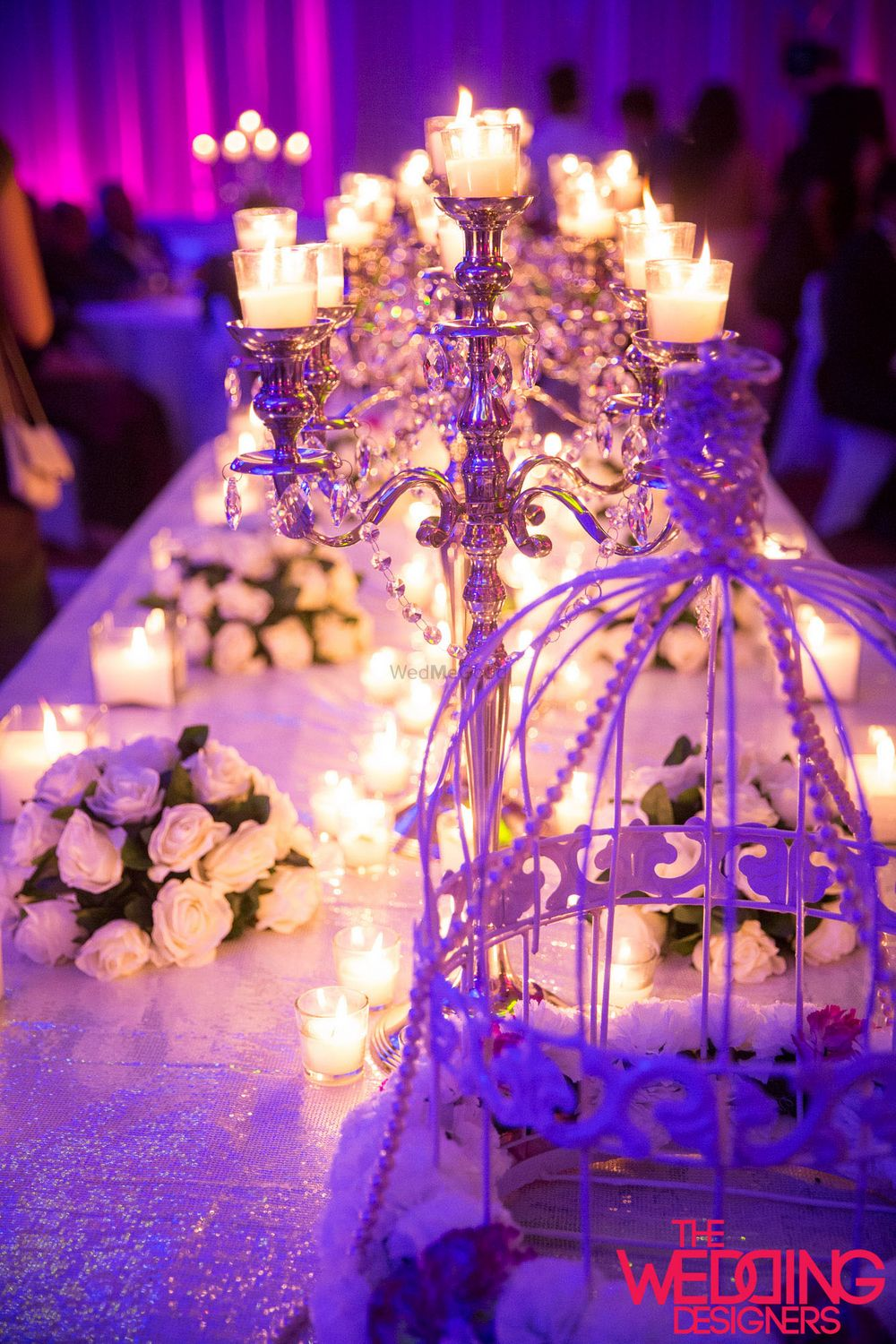 Photo of table centerpieces with candelabras