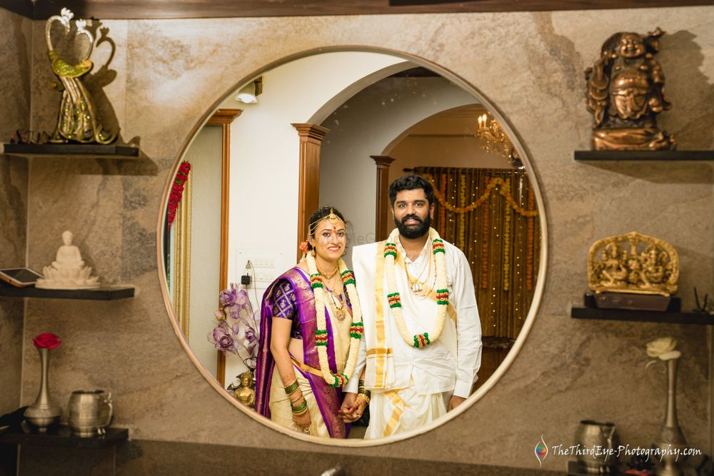 Photo From Beautiful & Intimate Covid19 Wedding at home - Charan Meghna - By The Third Eye Photography