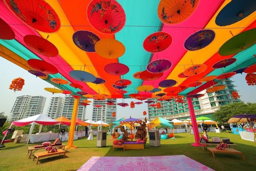 Photo From Haldi : Event full of colours - By The Design Atelier