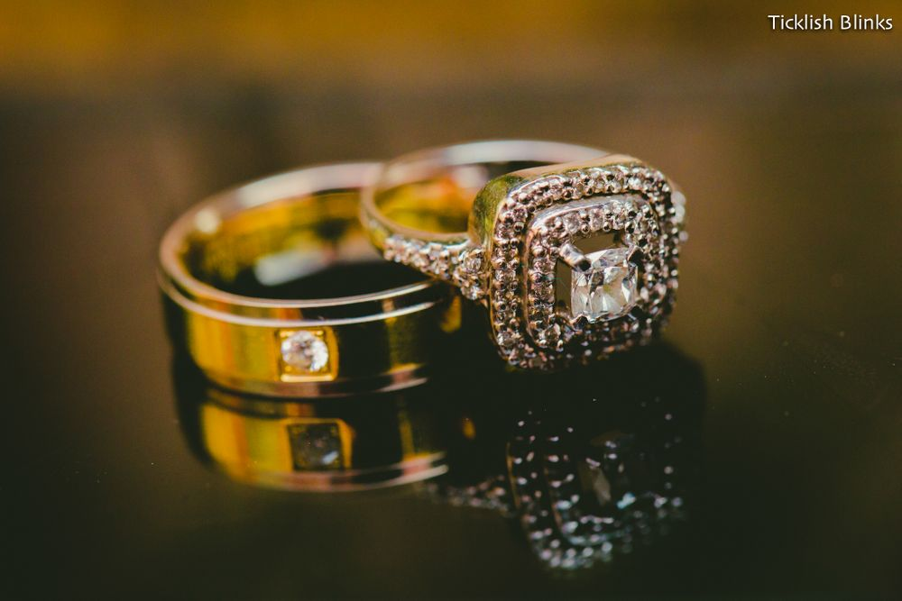 Photo of His and Her Engagement Rings