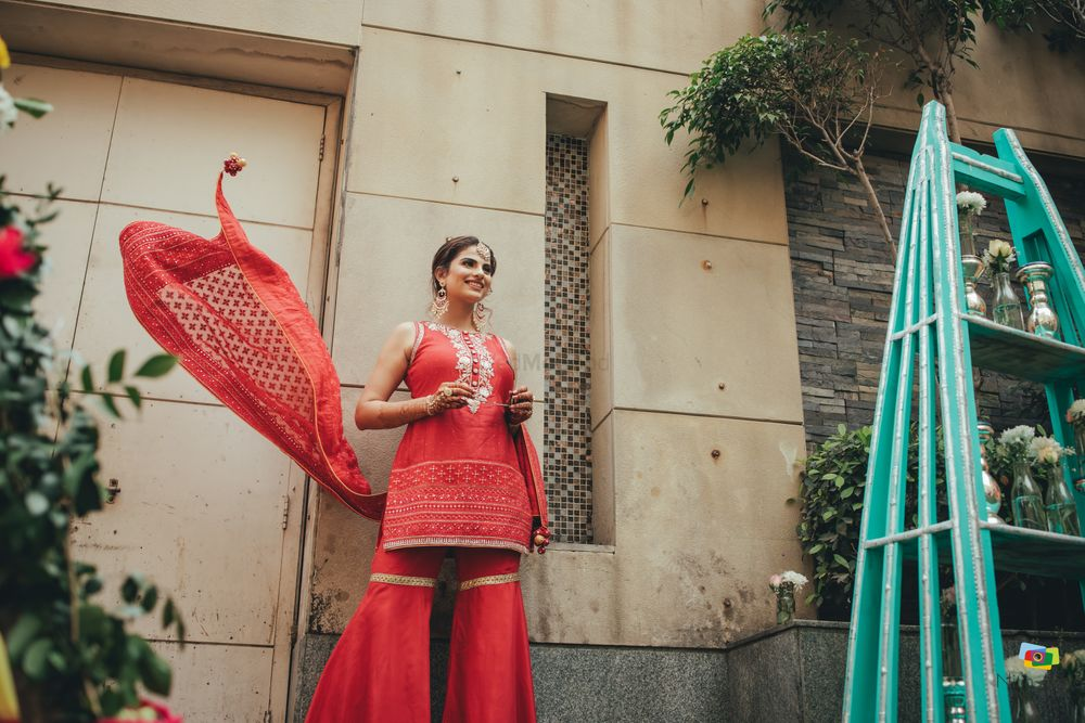 Photo of Mehendi outfit idea for intimate weddings