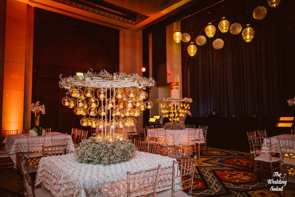 Photo of Table centerpieces with  candles