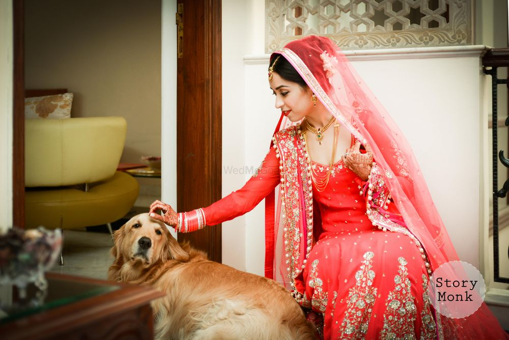 Photo of Sikh Bride with Her Dog