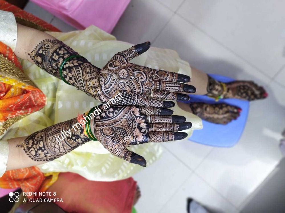 Photo From neha bridal mehandi ceremony - By Jully Mehandi Designer