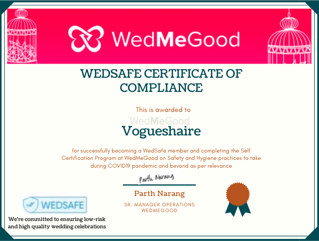 Photo From WedSafe - By Vogueshaire