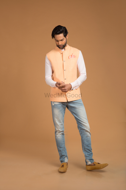 Photo of Grooms brother outfit nehru jacket