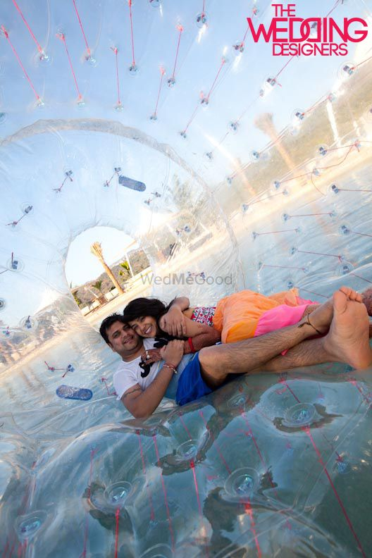 Photo of pool party idea with zorbing ball