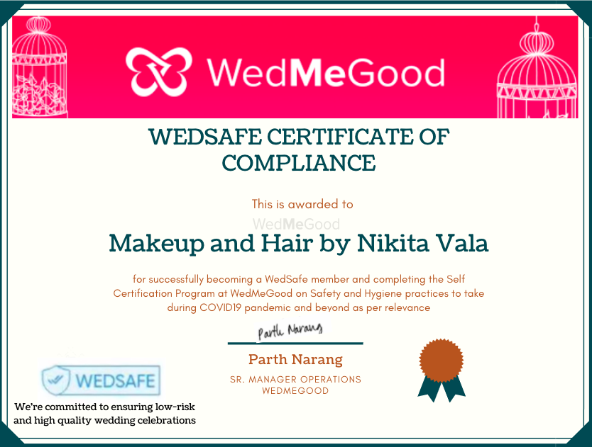 Photo From WedSafe - By Makeup and Hair by Nikita Vala
