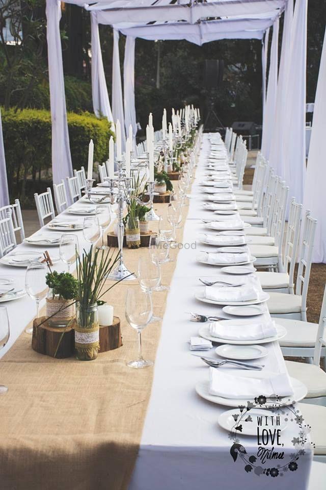 Photo of white table decor
