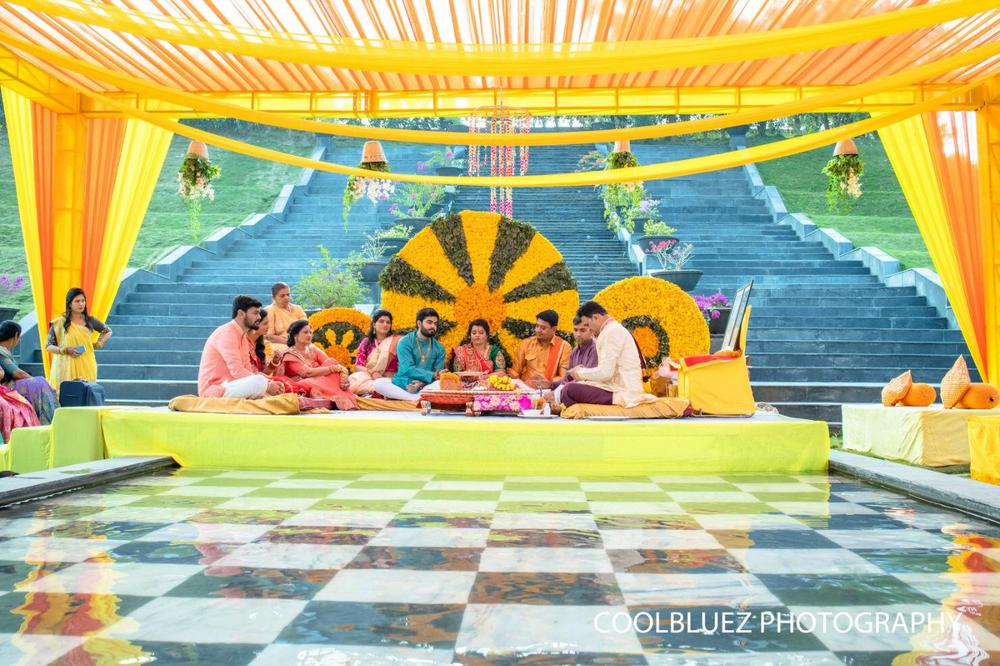 Photo From Destination Wedding at Taj - Intimate Haldi - JDSquare - By Valiant Events