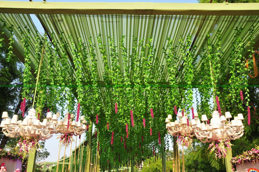Photo of Lotus inspired entrance decor