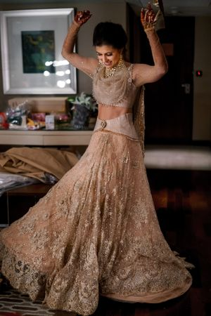Indo western reception outfit for bride