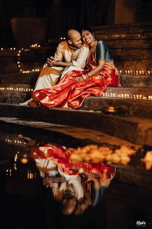 A south indian couple poses