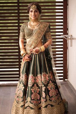 Offbeat bridal colour Sabyasachi lehenga