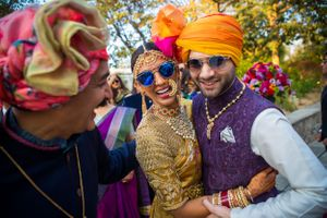 Pretty south indian bride with her brother at her south indian wedding