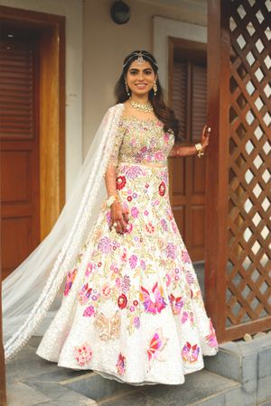 Lehenga with butterflies Manish malhotra