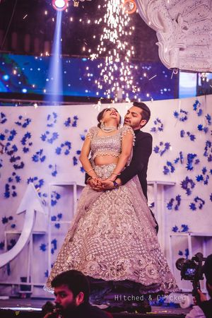 Romantic couple dance on stage