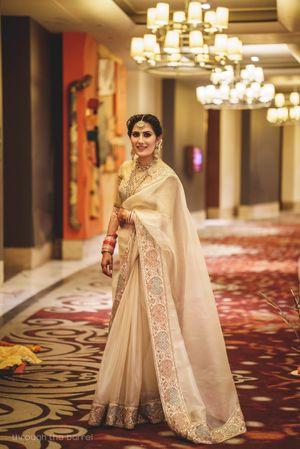 Bride in reception saree