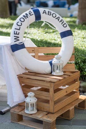 Nautical theme decor for entrance