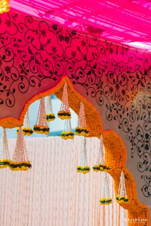 Genda phool entrance decor idea