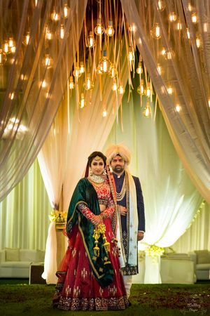 Couple portrait on wedding day