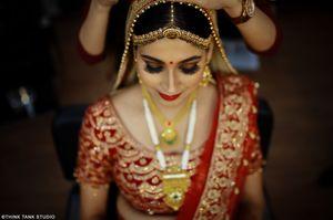 Beautiful wedding day bridal shot