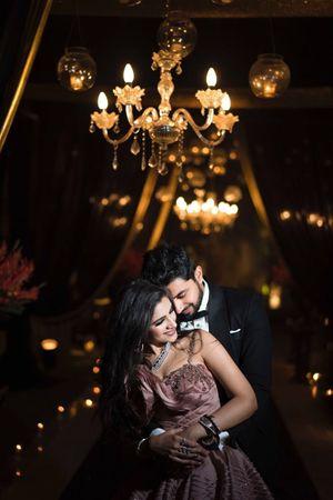 Sangeet couple romantic portrait idea