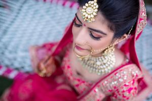 Bridal portrait with stunning makeup!
