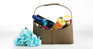 Wedding invitation or welcome hamper