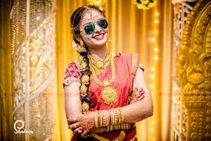 South Indian bride in sunnies