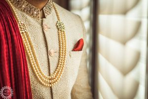 Groom jewellery with pearls