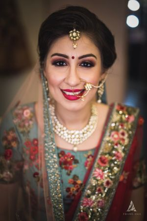 Lovely bridal portrait with minimal makeup