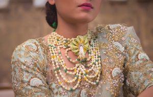 Floral jewellery mehendi necklace