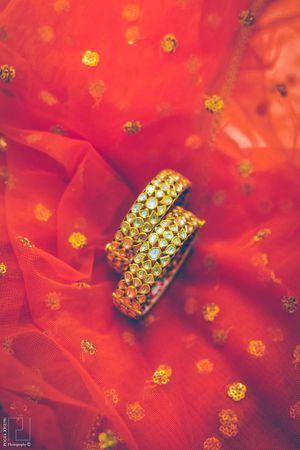 Gold Kundan Work Bangles