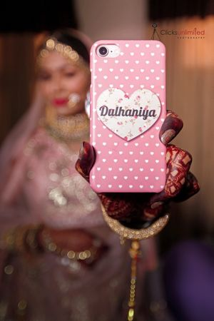 Cute bridal phone cover