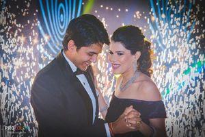 couple portrait with sparklers