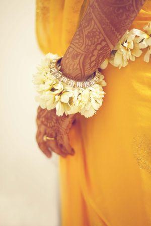 Floral jewellery kada for mehendi