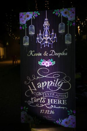 Wedding entrance signage