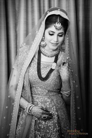Smiling bride shot