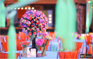 Floral and colorful table setting